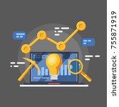 organizer service progress... | Shutterstock .eps vector #755871919