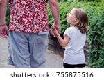 a little girl asks why  kids... | Shutterstock . vector #755875516
