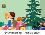 a vector illustration of... | Shutterstock .eps vector #755881804