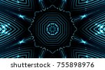 decorative lines background | Shutterstock . vector #755898976