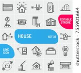 energy efficient house icons...   Shutterstock .eps vector #755901664