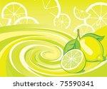 citrus lemon aroma | Shutterstock .eps vector #75590341