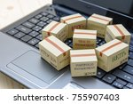 private portfolio and wealth... | Shutterstock . vector #755907403