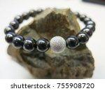 black onyx quartz  | Shutterstock . vector #755908720