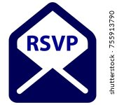rsvp color icon | Shutterstock .eps vector #755913790