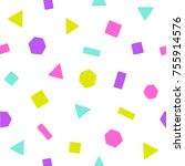 bright geometric figures.... | Shutterstock .eps vector #755914576