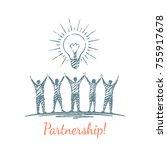 partnership  businessmen... | Shutterstock .eps vector #755917678