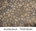 dirty stone floor. space for... | Shutterstock . vector #755918164