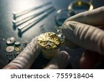 mechanical watch repair | Shutterstock . vector #755918404