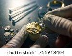 mechanical watch repair | Shutterstock . vector #755918404