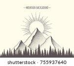 summer mountain background.... | Shutterstock .eps vector #755937640