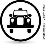 taxi icon vector | Shutterstock .eps vector #755945950