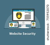 seo webiste security | Shutterstock .eps vector #755952070