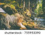 magnificent mountain river and... | Shutterstock . vector #755953390