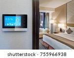 smart screen with smart home... | Shutterstock . vector #755966938