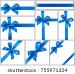 set of realistic white gift box ... | Shutterstock .eps vector #755971324