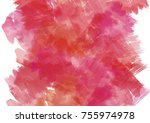 red grenadine abstract hand... | Shutterstock . vector #755974978