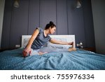 attractive shape sporty middle...   Shutterstock . vector #755976334