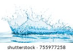 water splash with reflection | Shutterstock . vector #755977258