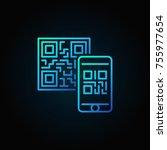 mobile phone scanning qr code... | Shutterstock .eps vector #755977654