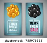 poster template for black... | Shutterstock .eps vector #755979538