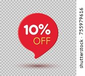 tag  discount sticker isolated... | Shutterstock .eps vector #755979616