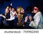 new year party celebration with ... | Shutterstock . vector #755982340