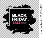 black friday. holiday sale.... | Shutterstock .eps vector #755984158