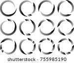 lines in circle form . spiral... | Shutterstock .eps vector #755985190