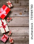 merry christmas. decoration for ... | Shutterstock . vector #755989780