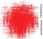 banner red stain paint brush.... | Shutterstock .eps vector #755994214