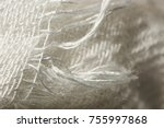 Small photo of Surface of threads of white viscose macro