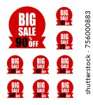 icon set discount price off and ... | Shutterstock .eps vector #756000883