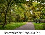 botanical garden  autumn park | Shutterstock . vector #756003154