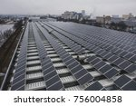solar panels installed on a... | Shutterstock . vector #756004858
