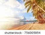 beautiful beach at koh phangan  ... | Shutterstock . vector #756005854