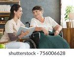 friendly relationship between... | Shutterstock . vector #756006628