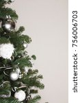 white and silver christmas... | Shutterstock . vector #756006703