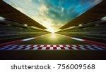 evening speedy motion blur... | Shutterstock . vector #756009568