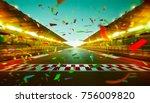 night speedy motion blur... | Shutterstock . vector #756009820
