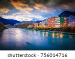 innsbruck embankment with... | Shutterstock . vector #756014716