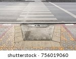 tactile paving system on... | Shutterstock . vector #756019060