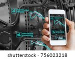 augmented reality technology... | Shutterstock . vector #756023218