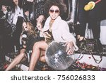 new year celebration party in... | Shutterstock . vector #756026833