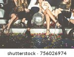 new year celebration party in... | Shutterstock . vector #756026974