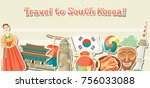 korea banner design. korean... | Shutterstock .eps vector #756033088