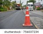 Old Orange Traffic Cones At...