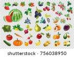 vegetables or veggies farmer... | Shutterstock . vector #756038950