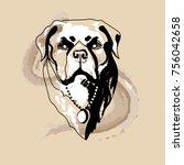 rottweiler dog logo | Shutterstock . vector #756042658