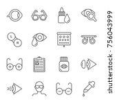 ophthalmology vector icons set | Shutterstock .eps vector #756043999